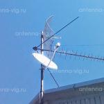 Триколор ТВ, тарелка 0,55 м. Волгоград, Дзержинский район.