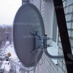 Континент ТВ, тарелка 0,6 м. Волгоград, Кировский район