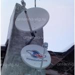 Триколор ТВ, тарелка 0,55 м. Волгоград, Дзержинский район. Верхняя антенна HOT BIRD