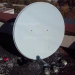 Тарелка с мультифидом на 3 спутника, 0,9м. Крым, Севастополь