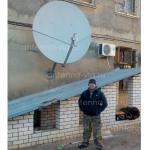 Приемо-передающая станция спутниковой связи, тарелка 1,8м. Михаловка