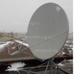 Приемо-передающая станция спутниковой связи, тарелка 1,8м. Камышин